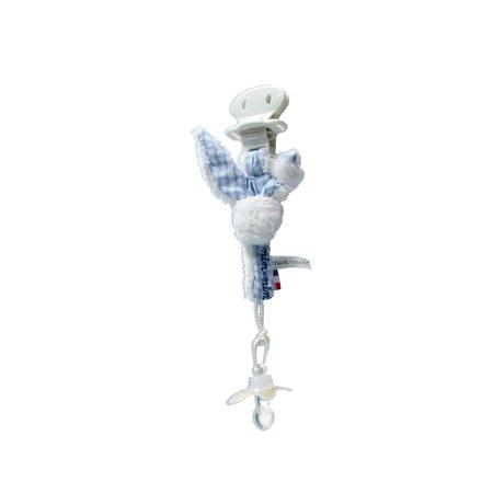 Nin Nin Nin Nin knuffel Spenenkoord 20 cm Blauw Wit