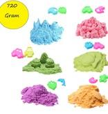 Banzaa Speelzand Bewegend Modelleer zand ‒ Set 12 Vormpjes 6 kleuren 720 Gram
