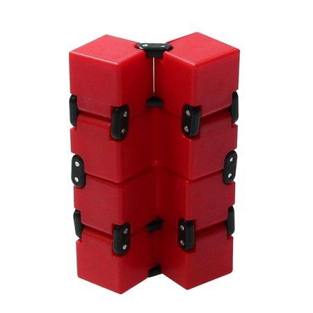 Banzaa Banzaa Infinite Magic Cube - Friemelkubus - Fidget Toys Rood