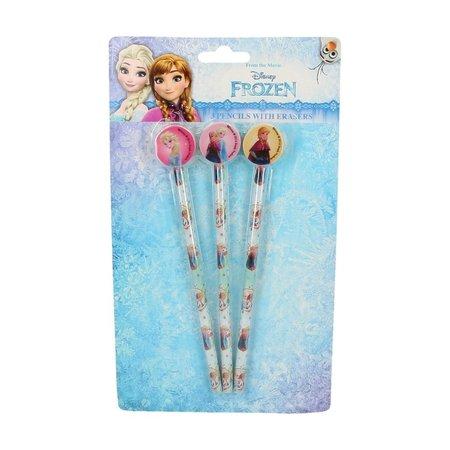 Disney Frozen Disney's Frozen Schoolpakket met Potloden, Gummen, Pennen en Zelfklevende Schooletiketten – 19x3x1cm | Schoolspullen | Teken en Schrijfwaren