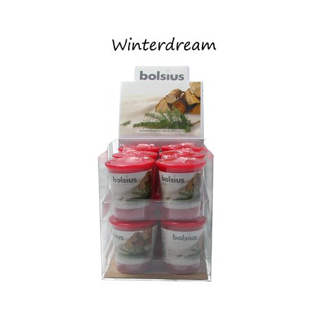 Bolsius Bolsius Geurkaars Winterdream Mega pack blister 12 stuks