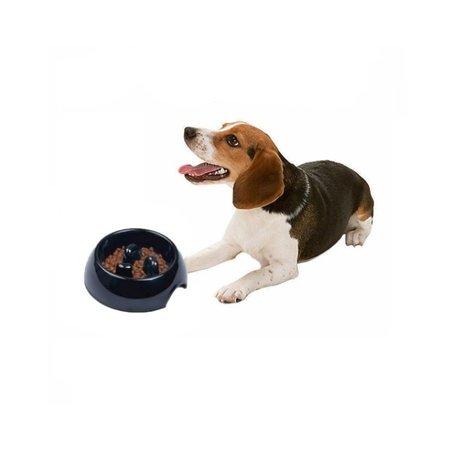 Banzaa Banzaa Anti schrok voerbak hond en kat – Slow feeder Antischokbak ø21cm Roze