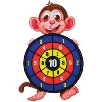 Dartbord klittenband - Aap incl. 3 ballen 28x44cm