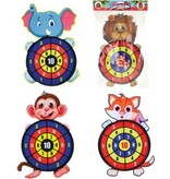 Toi-Toys Toi-Toys - Dartbord klittenband - kat - incl. 3 ballen 28x44cm