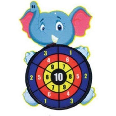 Toi-Toys Toi-Toys - Dartbord klittenband - Olifant - incl. 3 ballen 28x44cm