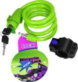 Gable Lock Staalkabelslot voor de Fiets met Beschermend omhulsel Groen – 16x11cm   Bescherming   Fietsslot   Kettingslot