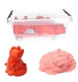 Banzaa Banzaa Moving Sand Speelzand Roze 2.5 KG Modelleer Zand in Bak + Mal Poes