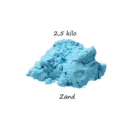 Banzaa Banzaa Moving Sand Speelzand Blauw 2.5 KG Modelleer Zand in Bak + Mal Leeuw