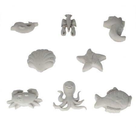 Banzaa Banzaa Moving Sand Speelzand 2.5 KG Modelleer Zand in Bak + 8 zeedieren mallen