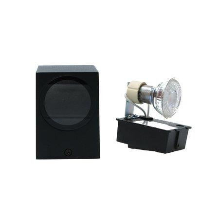 Banzaa Banzaa Wandlamp Led GU-10 5,5w Warm Wit ‒ Enkele lichtbundel Dimbaar ‒ rechthoek 9cm Zwart