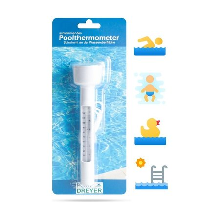 POOLDREYER POOLDREYER - Zwembad Thermometer - Drijvend - Water Thermometer - voor o.a. Babybad, Jacuzzi, etc