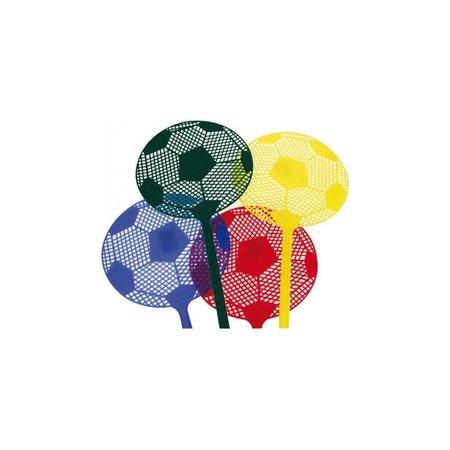 Jean Products Jean Vliegenmepper Extra Brede ‒ Set 4 Stuks Ophangbare Plastic Vliegenmeppers Voetbal