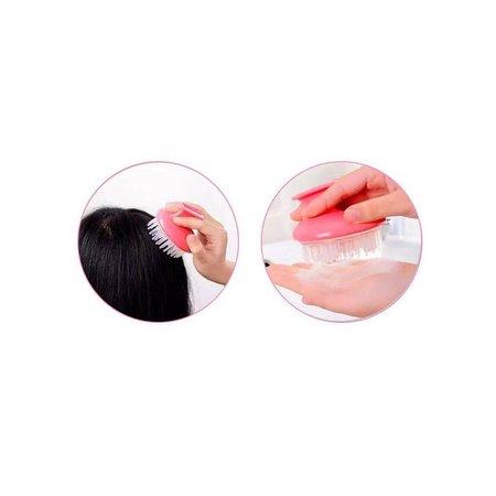 Jean Products Jean Massage Borstel Hoofdhuid Scalp Massage Siliconen Licht Blauw