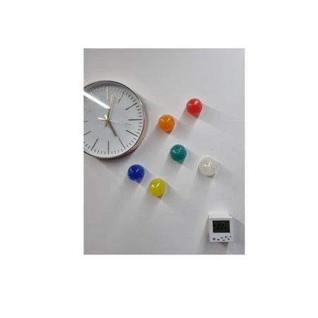 Banzaa Banzaa Sticky Balls 7cm ‒  Stressbal Orbeez 2-in-1 ‒ set van 3 Geel, Oranje, Transparant
