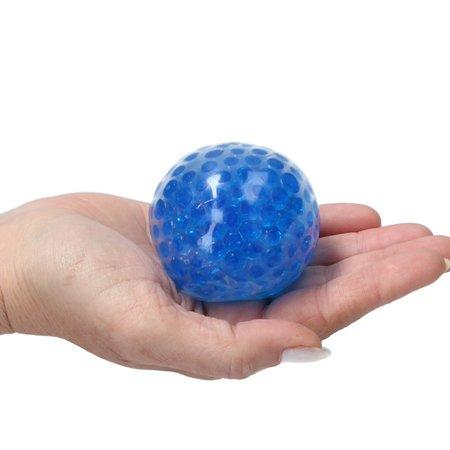 Banzaa Banzaa Anti stressbal Orbeez Mesh 7cm ‒ NEW Extra Dikke Ballon ‒ Set 2 Stuks Blauw