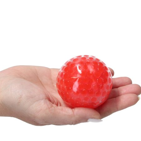 Banzaa Banzaa Anti stressbal Orbeez Mesh 7cm ‒ NEW Extra Dikke Ballon ‒ Set 2 Stuks Rood