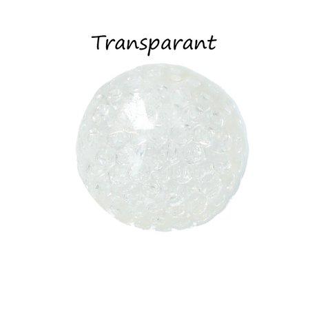 Banzaa Banzaa Anti stressbal Orbeez Mesh 7cm ‒ NEW Extra Dikke Ballon ‒ Set 2 Stuks Transparant