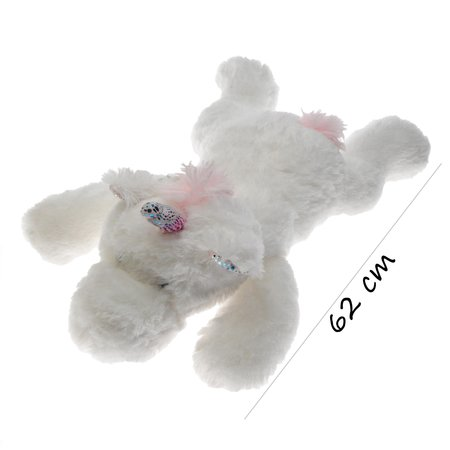 Banzaa Banzaa Eenhoorn Knuffel Liggend 62 cm Wit