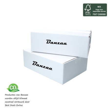 Banzaa Banzaa Wandlamp Led Cube 2x3w Warm Wit ‒ verstelbare Dubbele lichtbundel Dimbaar 10cm Wit.