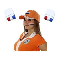 Schminkstift 3 Stuks ‒ EK Holland Oranje Smink rood wit Blauw ‒ Nederlandse Vlag