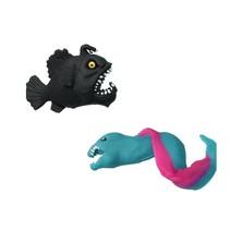 Fidget Zeemonster ‒ Anti stress Knijp Speelgoed ‒ ZeeBlauw, Zwart