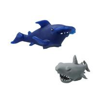 Fidget Zeemonster ‒ Anti stress Knijp Speelgoed ‒ Blauw, Grijs
