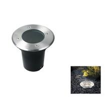 Grondspot Premium RVS 12cm IP65 ‒ led GU-10 5,5w Dimbaar Warm Wit