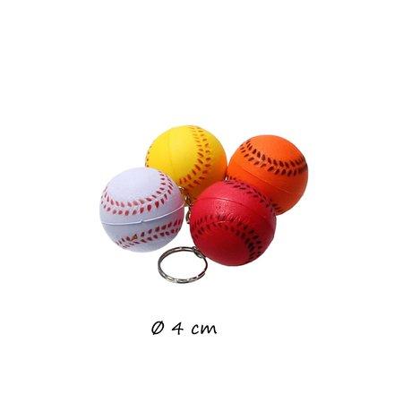 Banzaa Stressbal set – voetbal–basketbal–baseball–smiley–Sleutelhanger–Random kleur