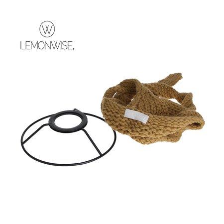 LemonWise Gebreide hanglamp - Lichtbruin - Small - Ø 15 cm