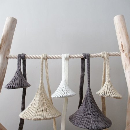 LemonWise Gebreide hanglamp - Donkergroen - Small - Ø 15 cm