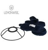 LemonWise Gebreide hanglamp - Donkerblauw - Small - Ø 15 cm