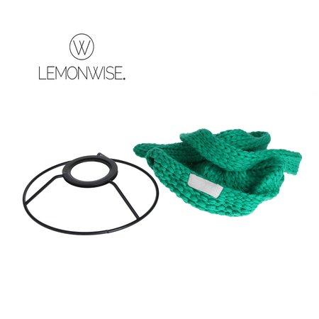 LemonWise Lemonwise Gebreide hanglamp - LichtGroen - Small - Ø 15 cm