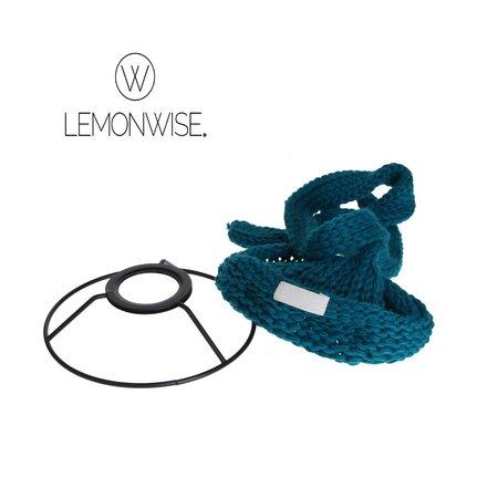 LemonWise Lemonwise Gebreide Hanglamp Petrol -Small-Ø 15 cm