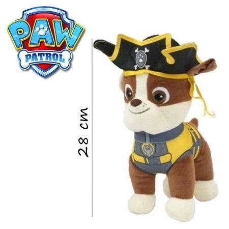 Paw Patrol Paw Patrol Piraten Pluche Knuffel Rubble 28cm   Paw Patrol & Friends