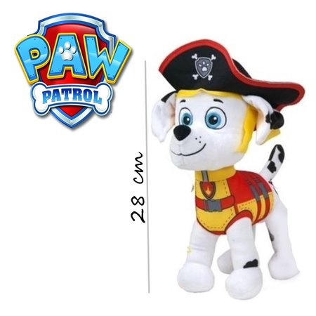 Paw Patrol Paw Patrol Piraten Knuffel Marshall 28cm | Paw Patrol & Friends