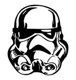 Star Wars  Maxi Muursticker - Stormtrooper - Zwart/Wit - 65x74cm