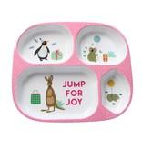 Rice  Melamine Baby Dinner Set Giftbox - Pink Party Animal Print