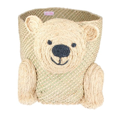 Rice  Seagrass Storage - Bear Shape