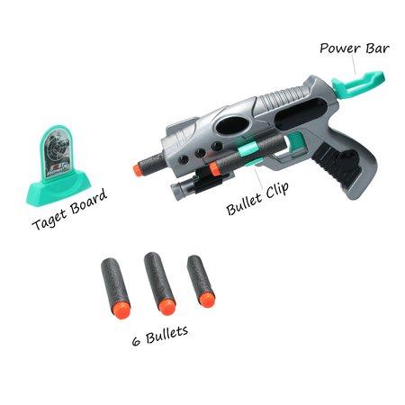 ML Toys Space Weapon - Pistool met Target en 6 foam pijlen - geschikt voor NERF Pijltjes