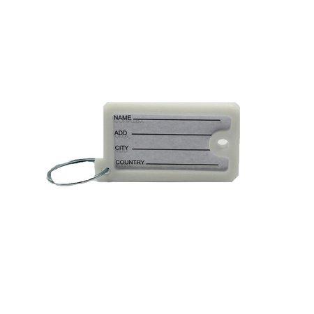 Banzaa Sleutelhanger Met Naamplaatje 4,5 Cm 12 Stuks Zwart/wit