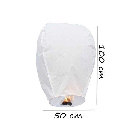 Banzaa  Wensballon 5 Stuks ‒ Original A Kwaliteit ‒ XXL Lampion 100cm