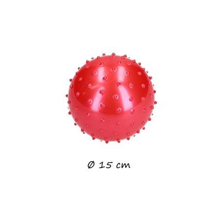 Banzaa  Educatieve stekelige Bal – 2 stuks met Pomp – Motorische en Sensorische Stimulatie – Rood, Blauw 15cm