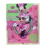 Disney Disney Minnie mouse puzzel 4stuks in een houten kistje