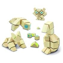 Houten 3d Bouwblokken 44 delig dieren met klittenband