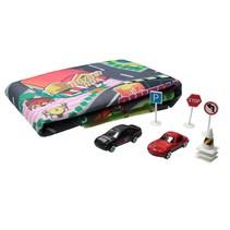 Speed Weels Auto Speelmat Plus Autootjes & verkeersborden