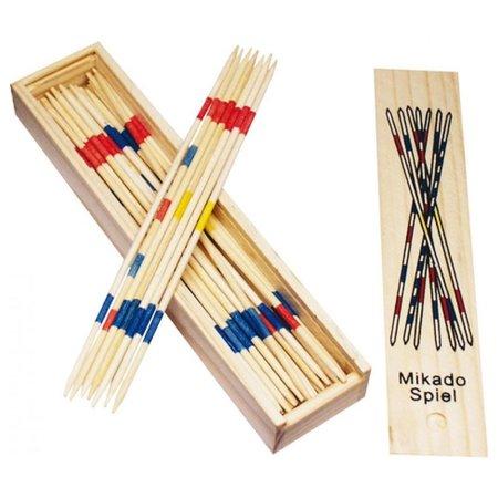 Banzaa Mikado Spiel / Houten Mikado Spel in houten Kistje met schuifdeksel - 41stoken 18cm lang
