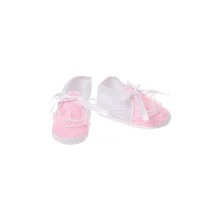 Junior joy  Babyschoenen Newborn Meisjes Wit/roze Met Stippen