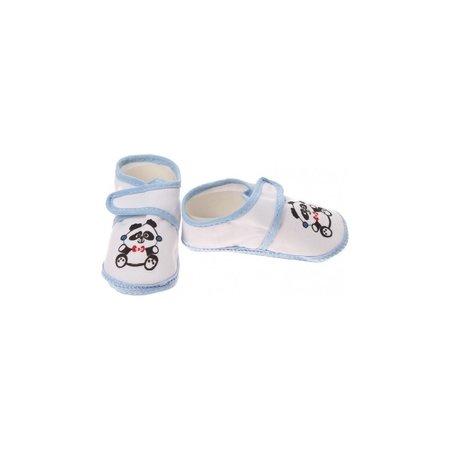 Junior joy  Babyschoenen Newborn Junior Wit/lichtblauw Met Panda