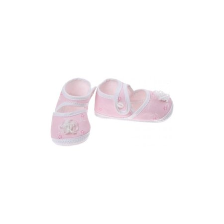 Junior joy Babyschoenen Newborn Meisjes Roze Met Roos