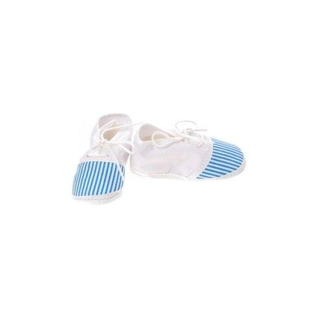 Junior joy Babyschoenen Newborn Junior Wit/blauw Met Strepen